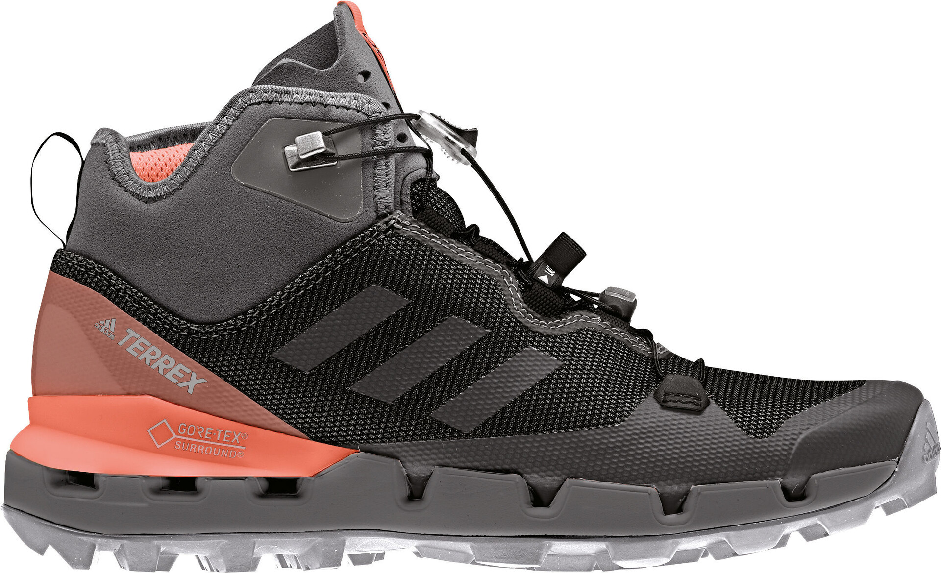 adidas TERREX Fast Mid GTX Schoenen Dames, core blackgrey fivechalk coral